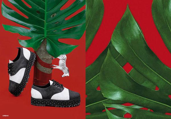 Tropically-Themed Shoe Branding