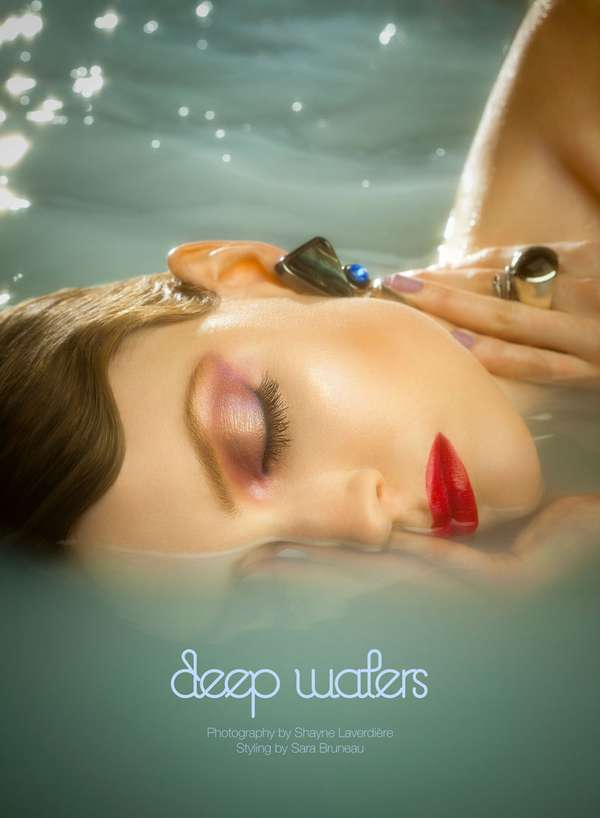 Glam Semi-Submerged Portraits