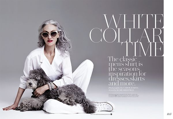 Androgynous Silver-Haired Editorials