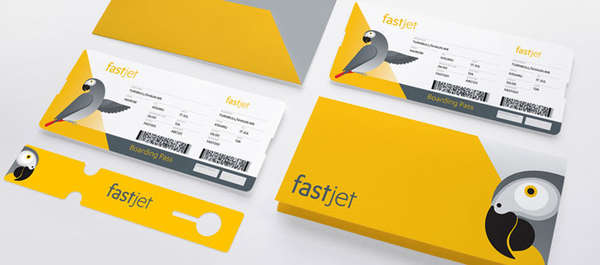 Illustrated Airplane Tickets