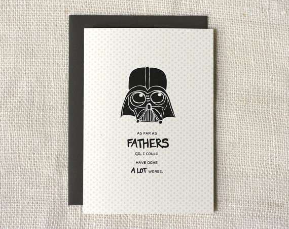 Father's Day Not The Worst Card