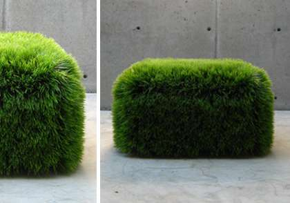 Astroturf Indoor Seating Faux Grass Ottoman Gives You The