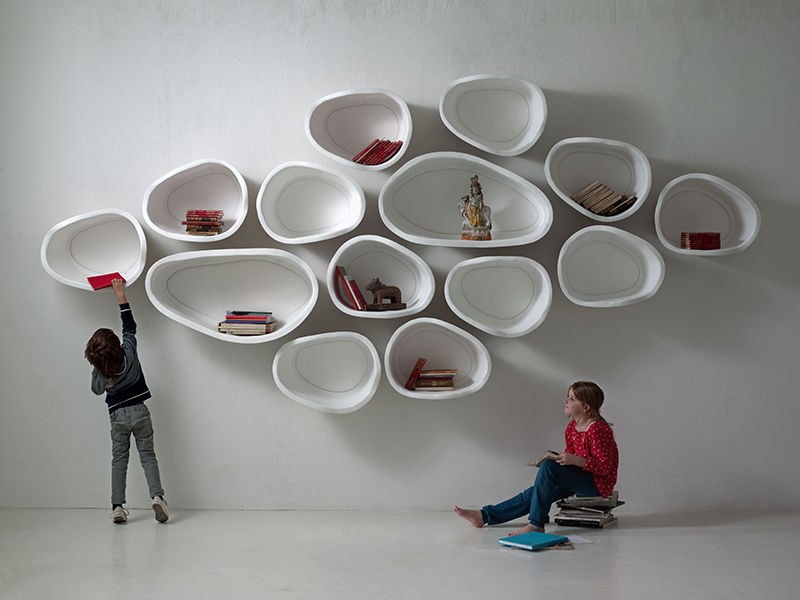 Organic Modular Shelves Favo By Imperfettolab