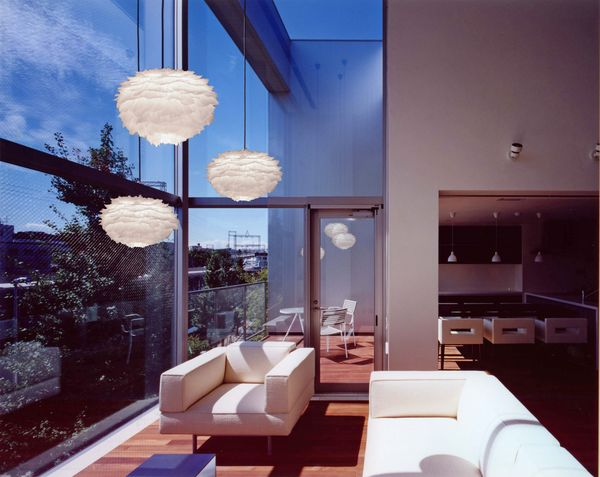 Glowing Feathered Pendant Lamps