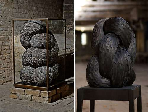 Ferocious Feather Sculptures