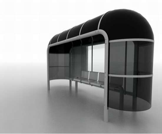 Bending Bus Shelters