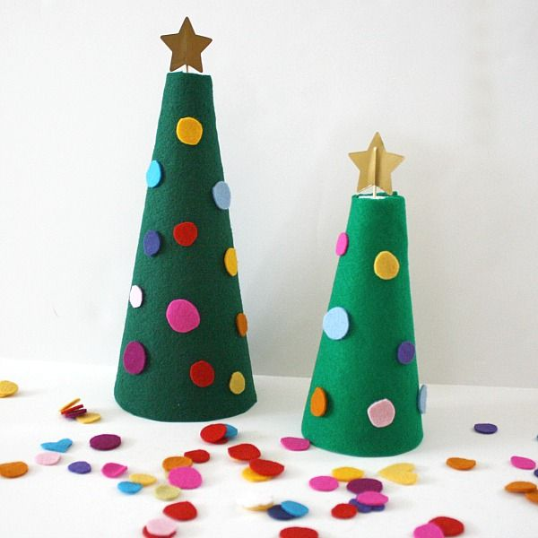 Festive Felt Trees