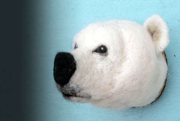 Petite Felt Animal Heads