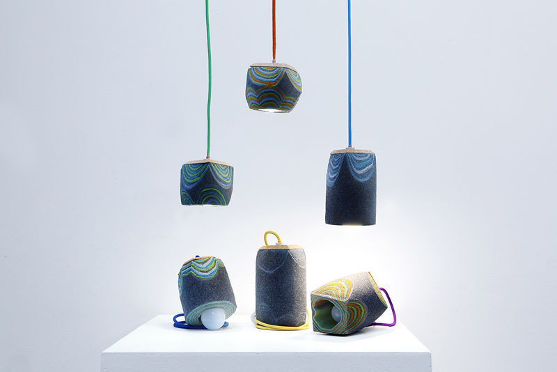 Layered Felt Lighting
