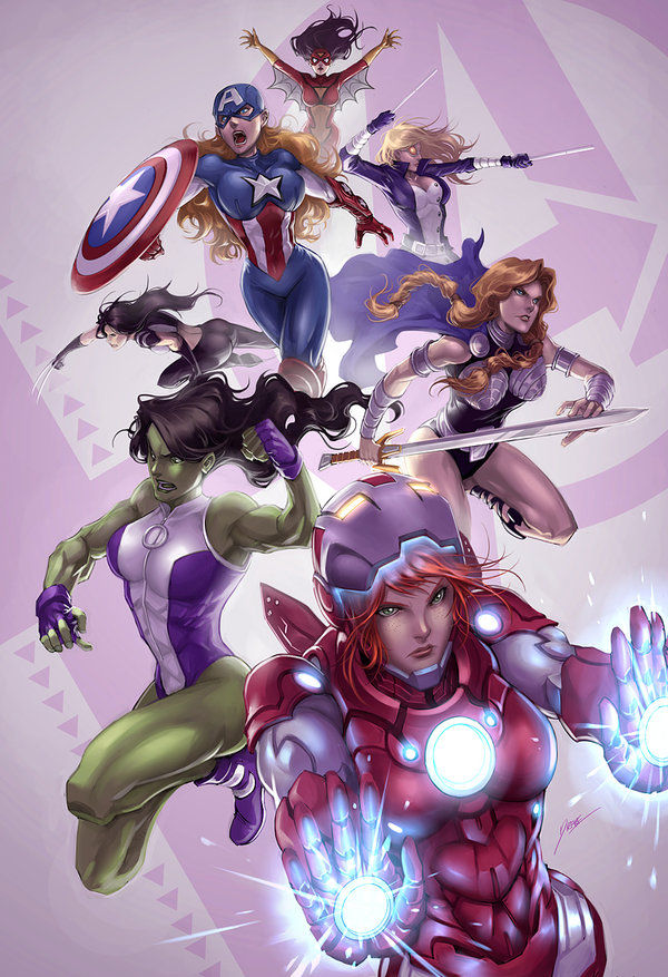 Female-Empowering Superhero Squads
