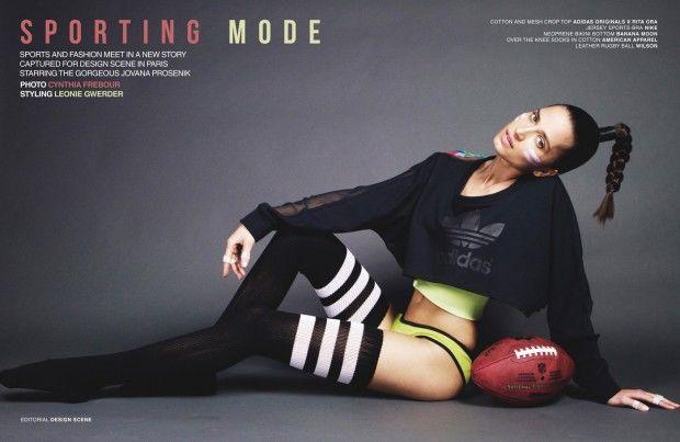 Feminine Sportswear Editorials