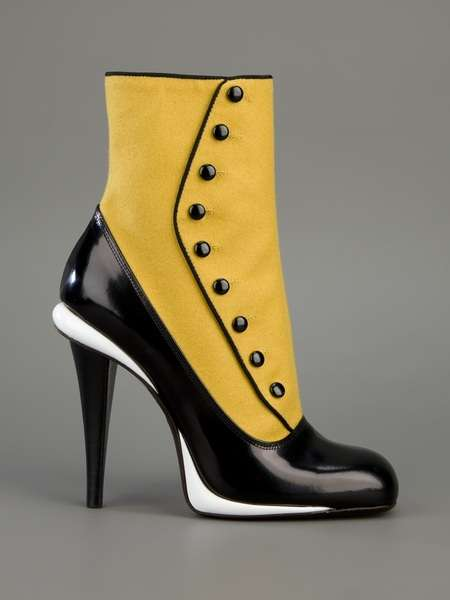 Victorian-Buttoned Stilettos