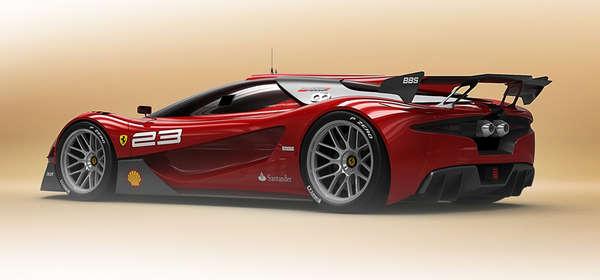 Ferrari Concept Cars 2014 Winding wind-cutting cars
