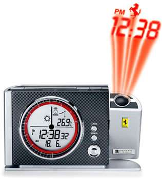 Supercar Projector Clocks