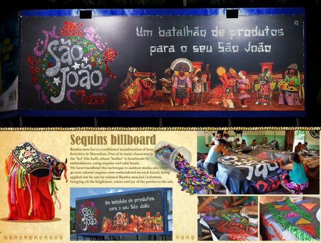 Handmade Sequin Billboards