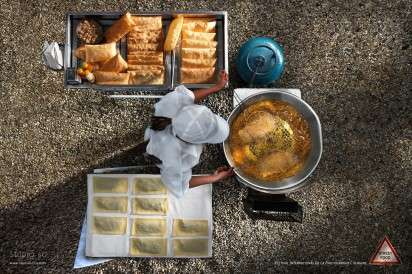 Aerial Food Photo Ads