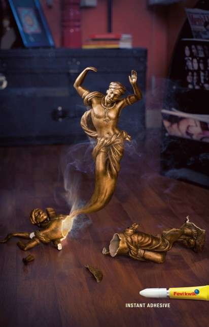 Ghostly Porcelain Figurine Ads