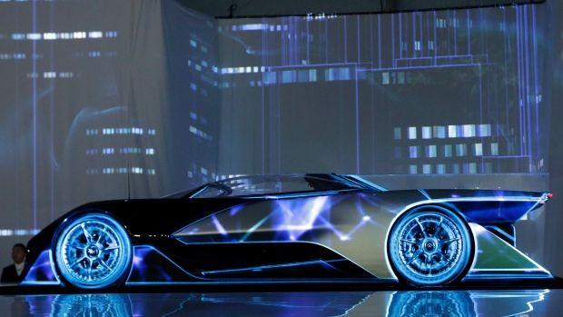 Futuristic Electric Racecars