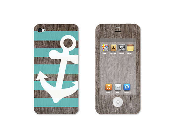 Graphic Wooden iPhone Decals