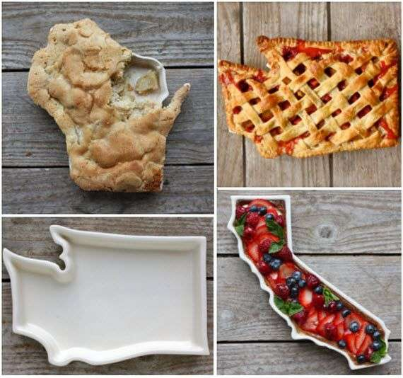 State-Shaped Pie Plates