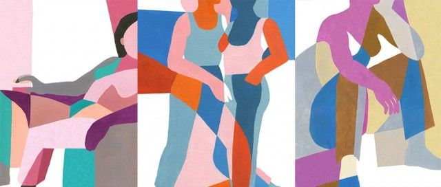 Intertwined Figure Paintings