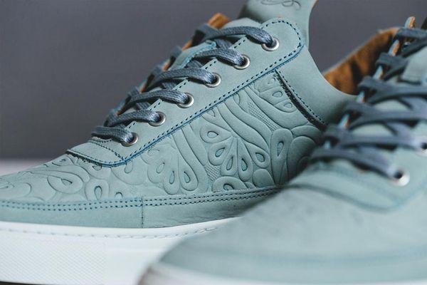 Embossed Floral Sneakers