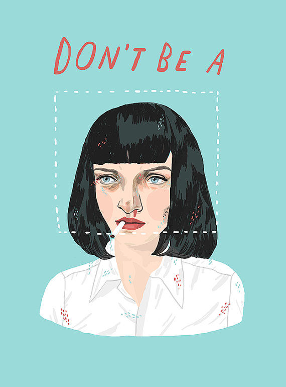 Charming Film Quote Illustrations
