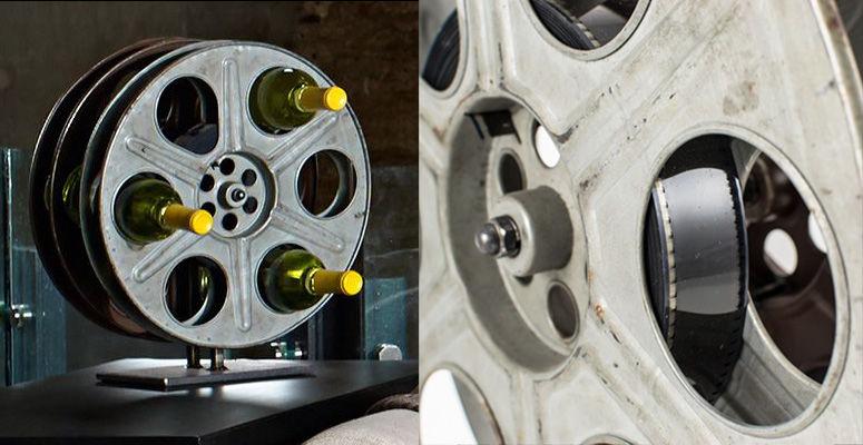 Film Reel Wine Racks