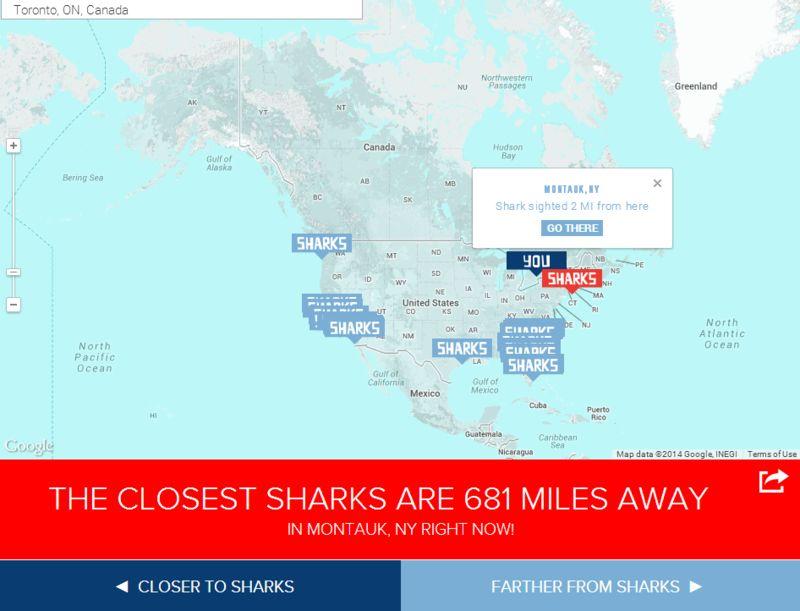 Shark Proximity Maps