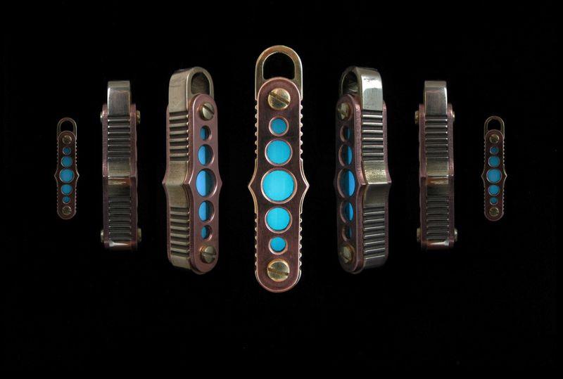 Glowing Steampunk Keychains