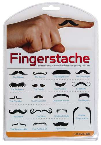 Silly Finger Mustaches