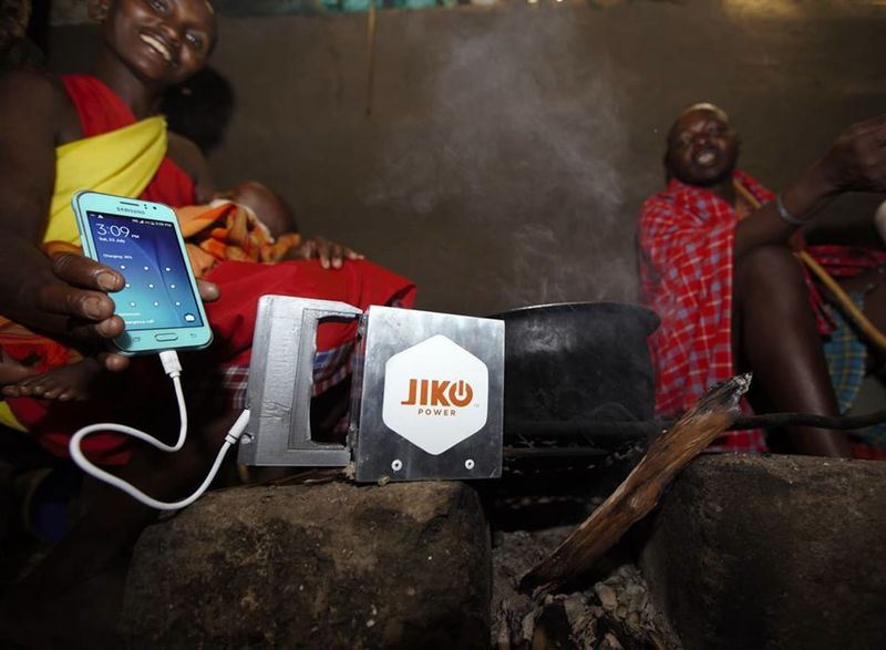 Fire-Powered Smartphone Chargers