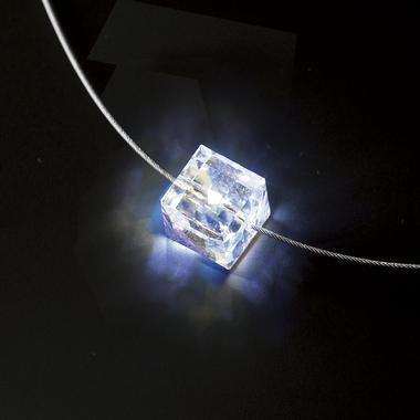 Glowing Swarovski Cube