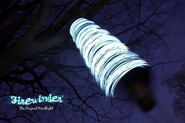 Outdoor Decor Turns Wind Into Light