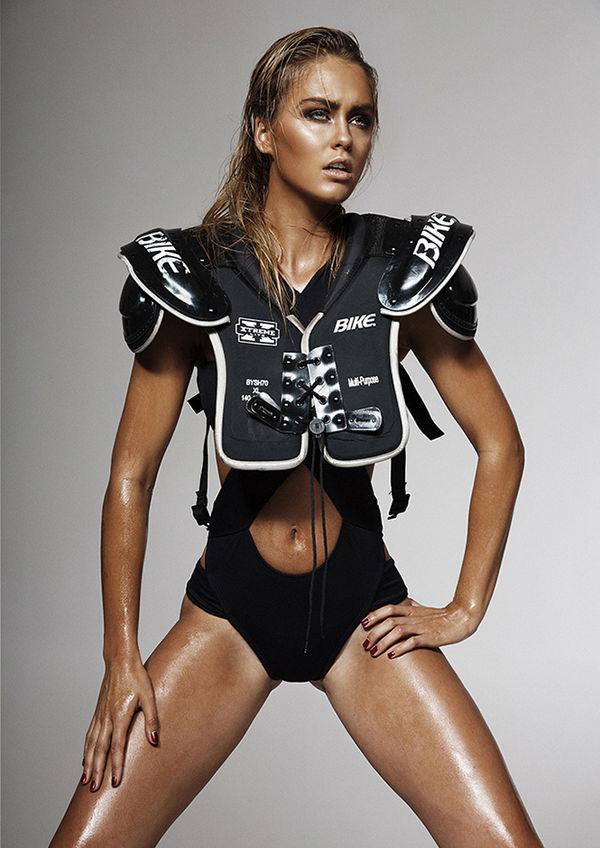 Glamorously Bronzed Sporty Fashion