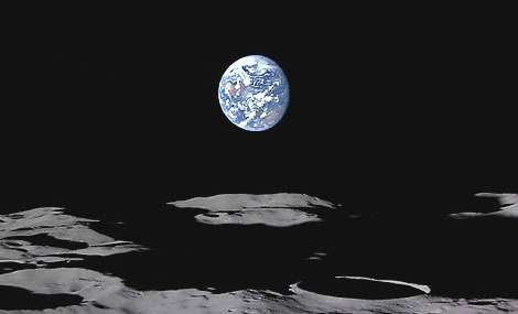 First Hi-Def Pics of Earthrise from the Moon taken by Japanese Spacecraft