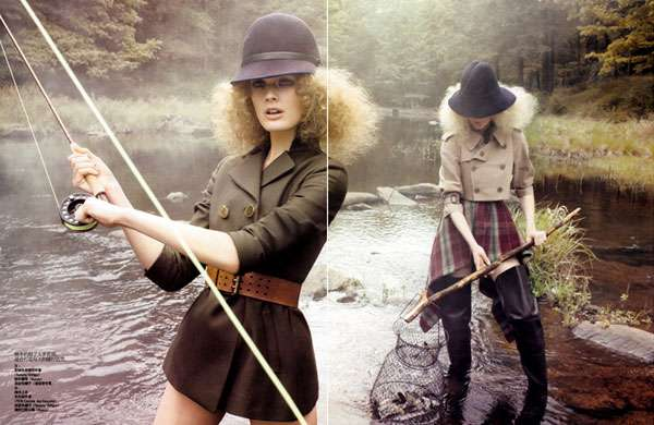 Fashionable Fishing Photography