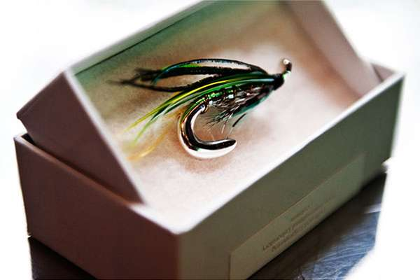 Fishing lure brooch