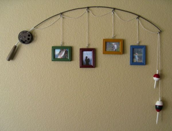 Clever Fishing Rod Decor