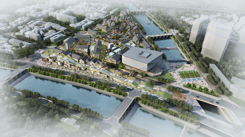 Fish-Shaped Shopping Centers