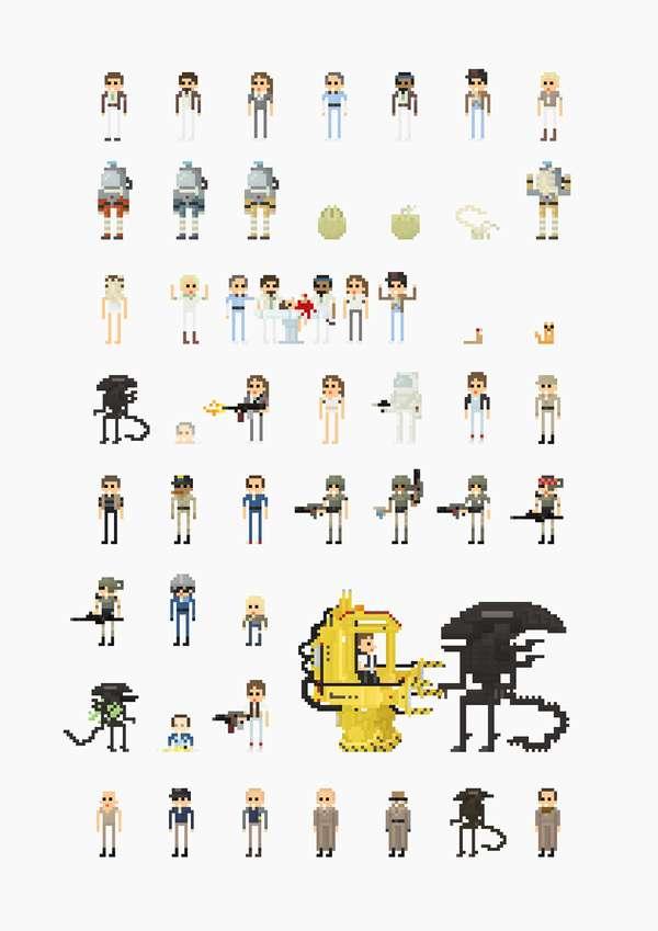 Cult Classic 8-Bit Characters