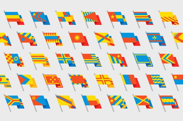 Flag-Building Fonts