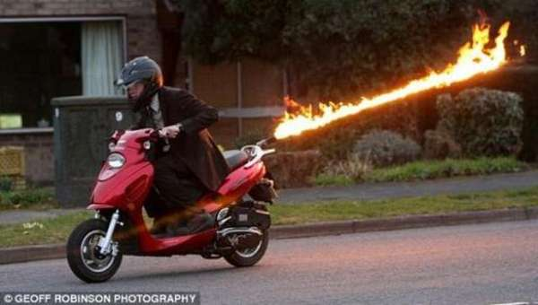 Flame Thrower Scooter