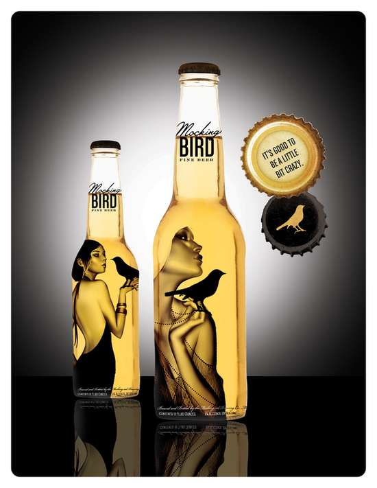 Flapper Girl Inspired Beer Bottles