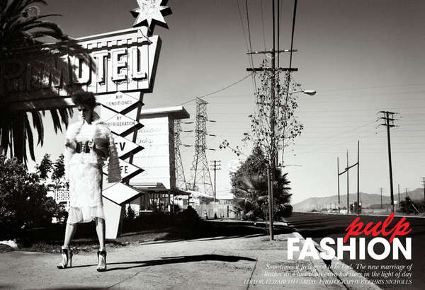 Flare Magazine 'Pulp Fashion'