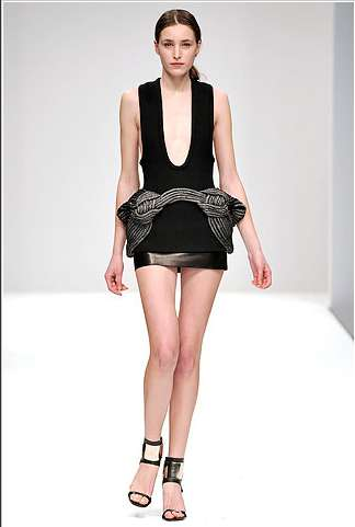 Flashy Little Dresses - Tassles, Heavy Metal and Cocktail Colors from David Koma