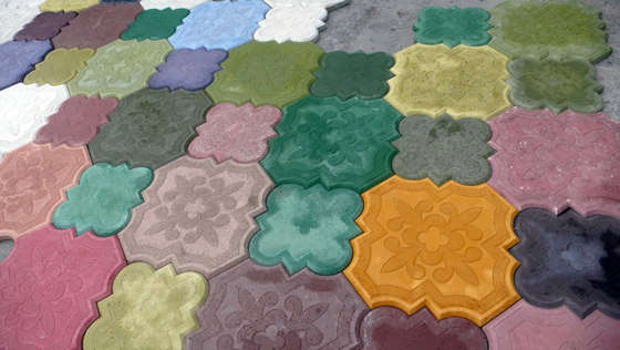 Colored Concrete Flooring - The Flaster Tiles by Ivanka Are Bright ...