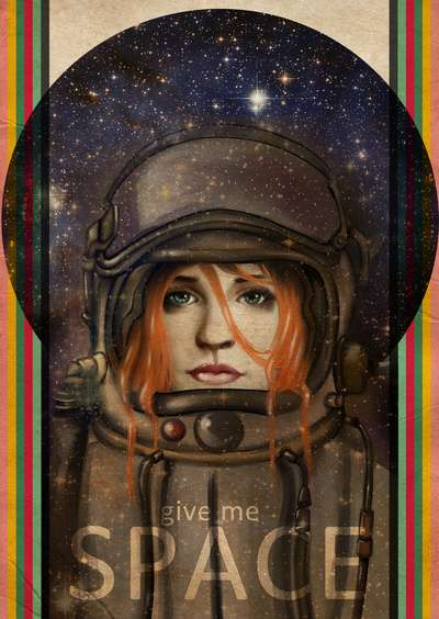 Female Astronaut Artistry