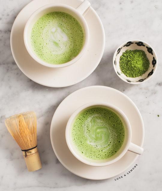 Matcha Coconut Lattes : Flavored Coffee Recipe