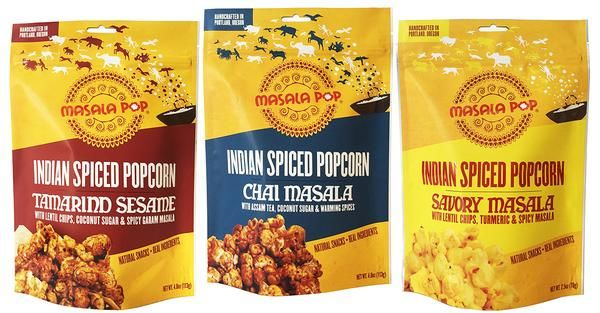 Spiced Indian Popcorn Snacks : flavored popcorn snacks